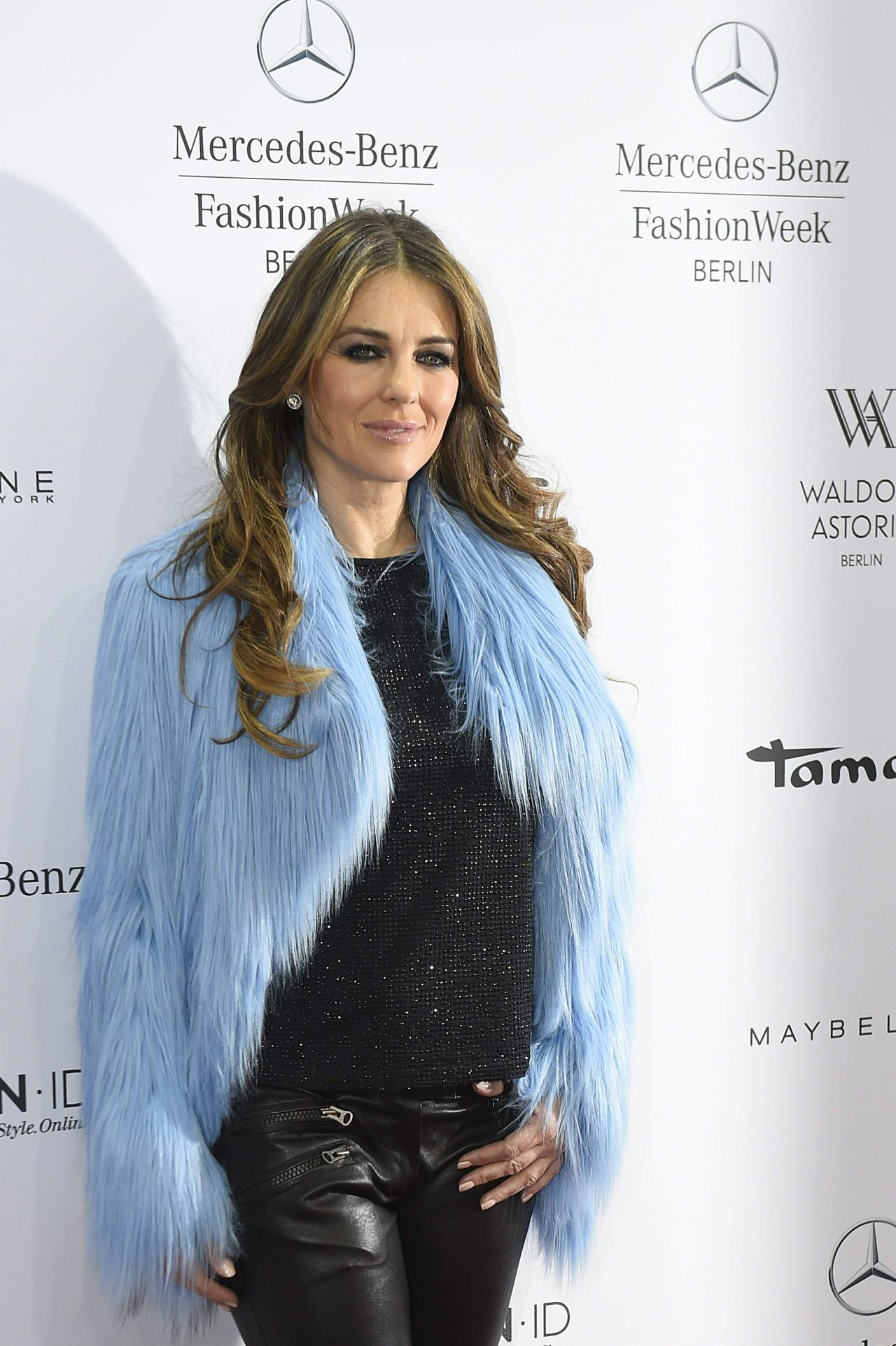 Elizabeth Hurley 2015 Celebrity Photos Style Marc Cain Show At The Mercedes Benz Fashion