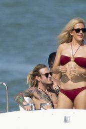 Ellie Goulding Bikini Candids - Yacht in Miami, January 2015