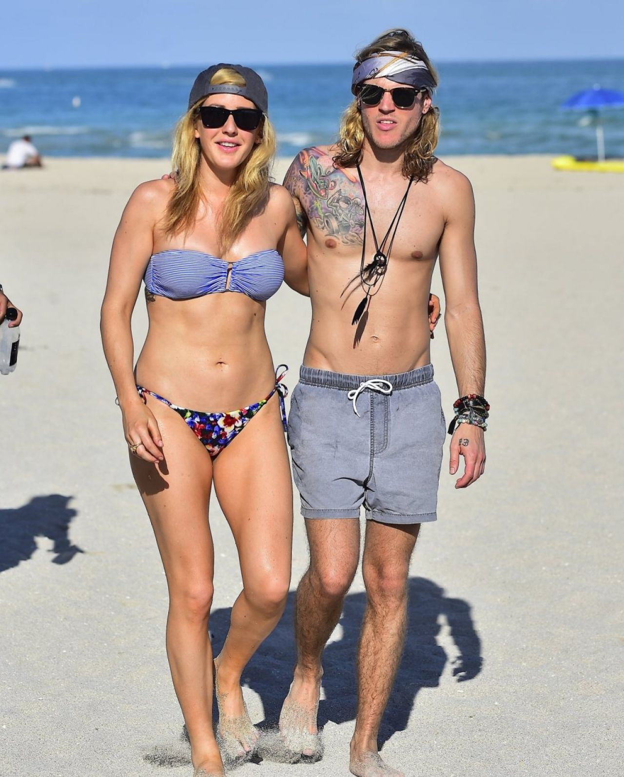 Ellie Goulding Bikini Pics - Beach in Miami, January 2015