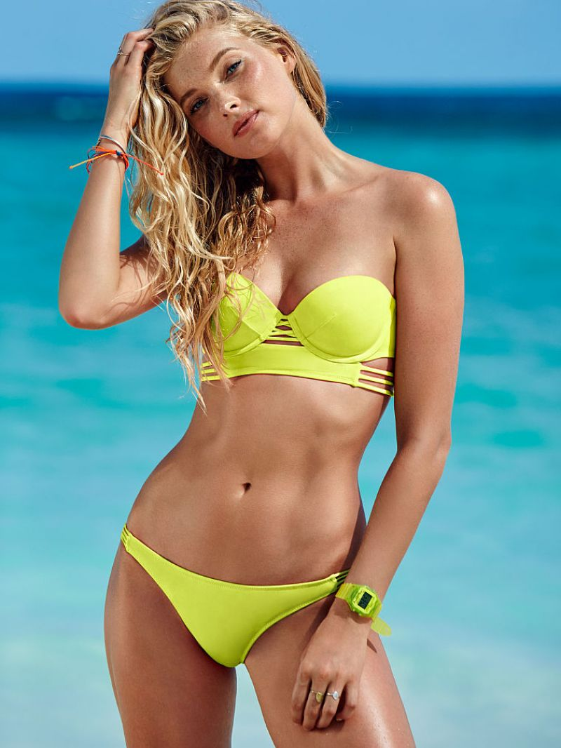 Elsa Hosk Bikini Photos Victorias Secret January 2014