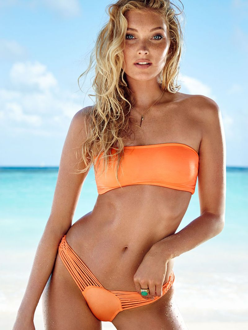 Elsa Hosk Bikini Photos Victoria S Secret January 2014