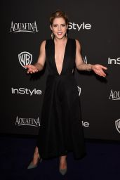 Emily Bett Rickards – InStyle And Warner Bros 2015 Golden Globes Party