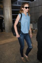 Emily Blunt Street Style - at LAX Airport - Jan. 2015