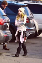 Emma Roberts Casual Style - at Mammoth Lakes, January 2015