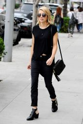 Emma Roberts Casual Style - Out in West Hollywood, January 2015