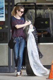 Emma Roberts in Jeans at a Dry Cleaners in West Hollywood - January 2015