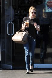 Emma Roberts in Jeans - Out in Los Angeles, January 2015