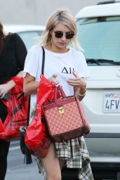 Emma Roberts Street Style - Out Shopping in West Hollywood, Jan 2015