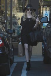 Emma Roberts Style - Out in Beverly Hills, January 2015