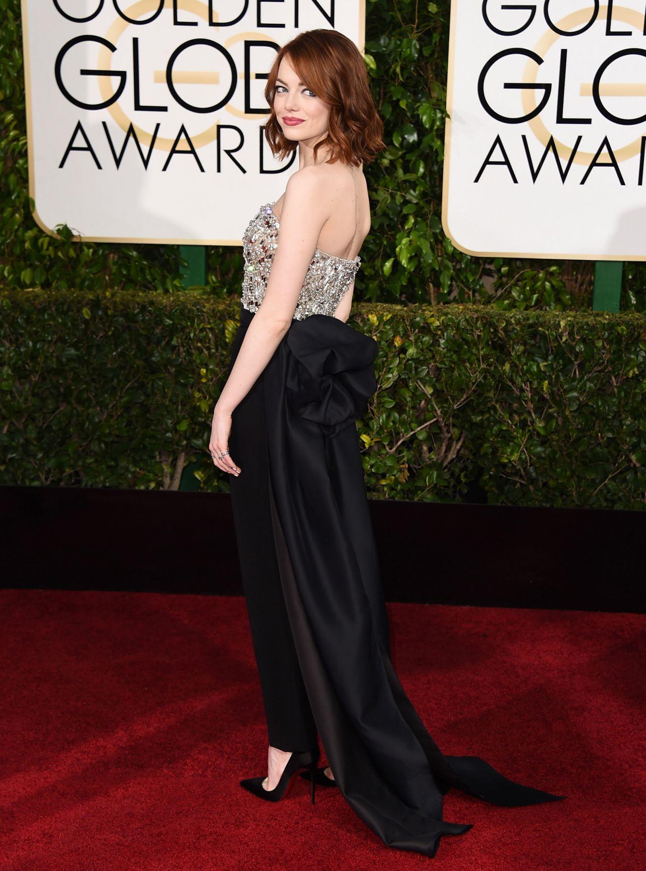 Emma Stone – 2015 Golden Globe Awards in Beverly Hills  Emma Stone Golden Globes