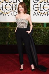 Emma Stone – 2015 Golden Globe Awards in Beverly Hills