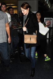 Emma Stone at LAX Airport, January 2015