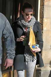 Emma Stone in Leggings - Out in New York City, January 2015