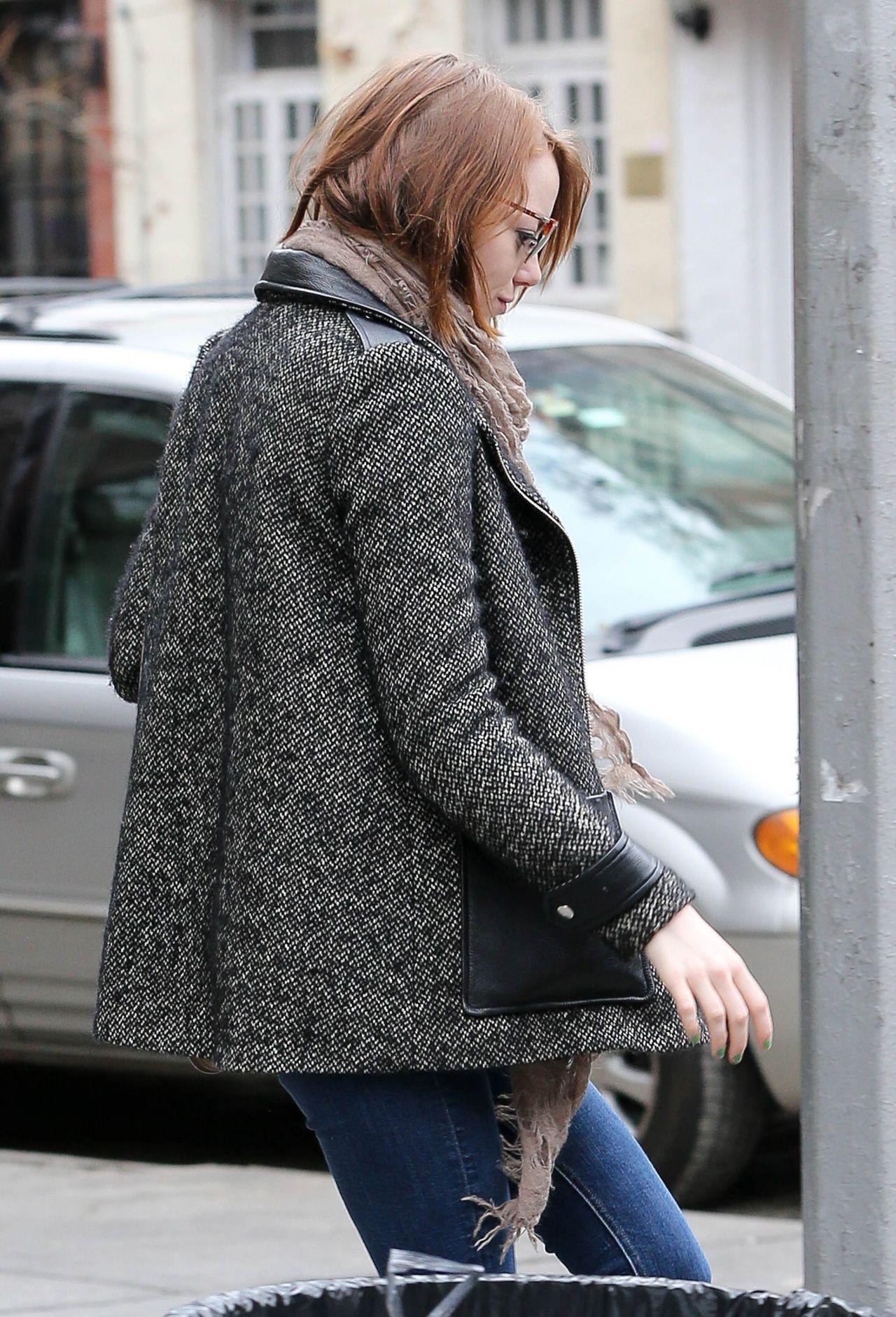 Emma Stone - Leaving Cafe Cluny in New York City, January 2015