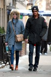 Emma Stone Winter Style - Out for a Walk in New York City, Jan. 2015