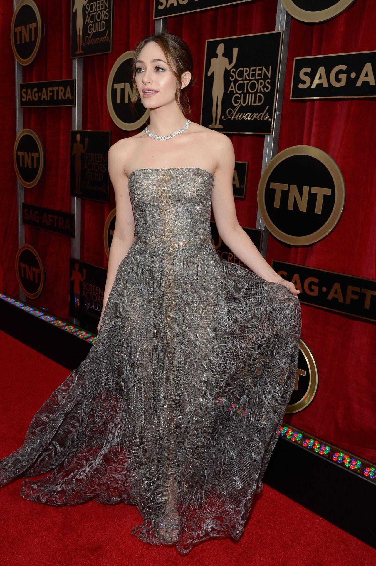 Emmy Rossum 2015 Sag Awards In Los Angeles