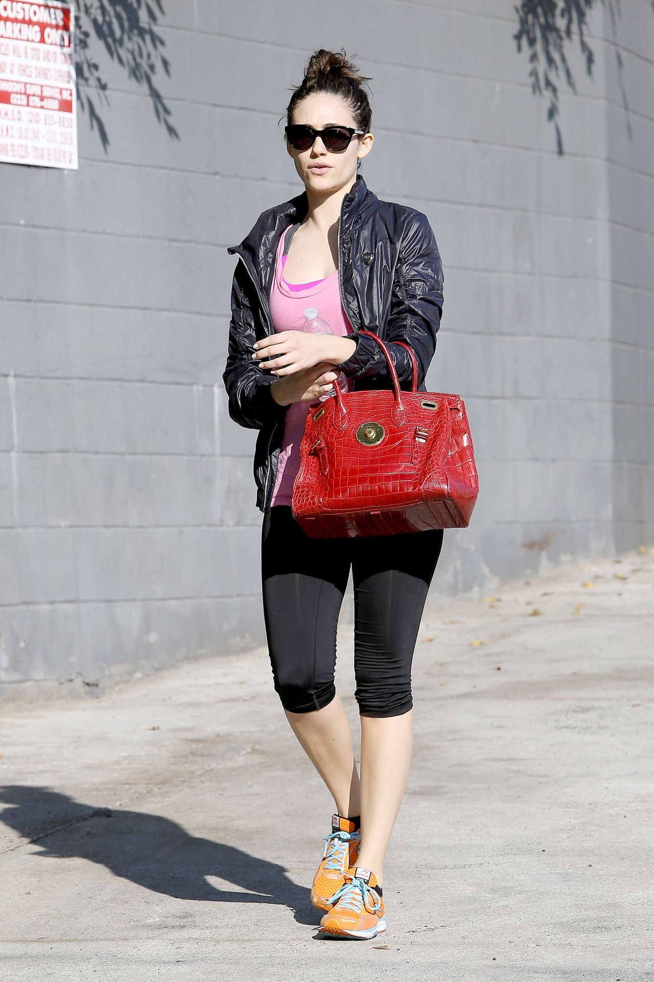 Emmy Rossum in Leggings - Out in Los Angeles, Jan. 2015