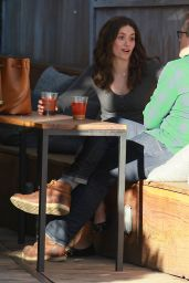 Emmy Rossum Photos - at a Cafe in Venice, January 2015