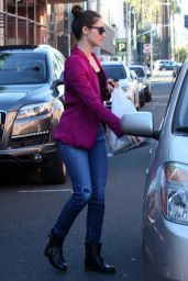 Emmy Rossum - Stops by a Doctors Office in Beverly Hills, Jan. 2015