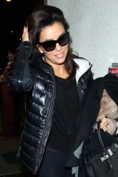 Eva Longoria  - Arriving at LAX Airport in Los Angeles, January 2015