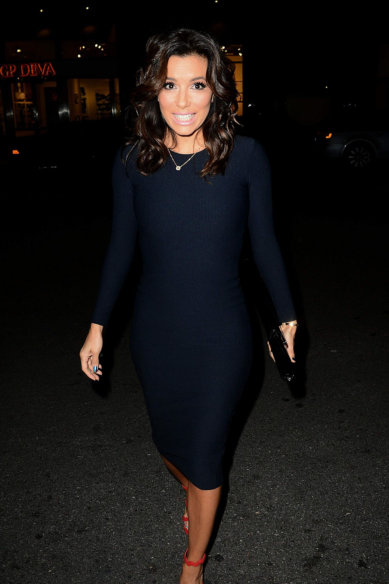Eva Longoria Has Dinner at Mr Chow in Los Angeles - January 2015