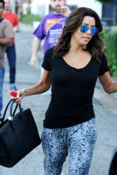 Eva Longoria - Leaving the Ken Paves Salon in West Hollywood, January 2015