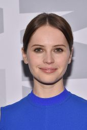 Felicity Jones in Blue Dress - MoMA