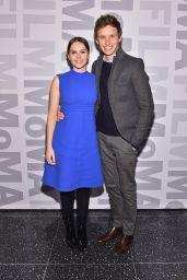 Felicity Jones in Blue Dress - MoMA