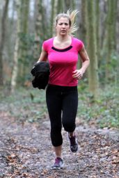 Gemma Atkinson Workout - Running in Forest Essex, January 2015