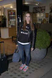 Gemma Merna - Leaving the Inanch Hair Salon in London, January 2015