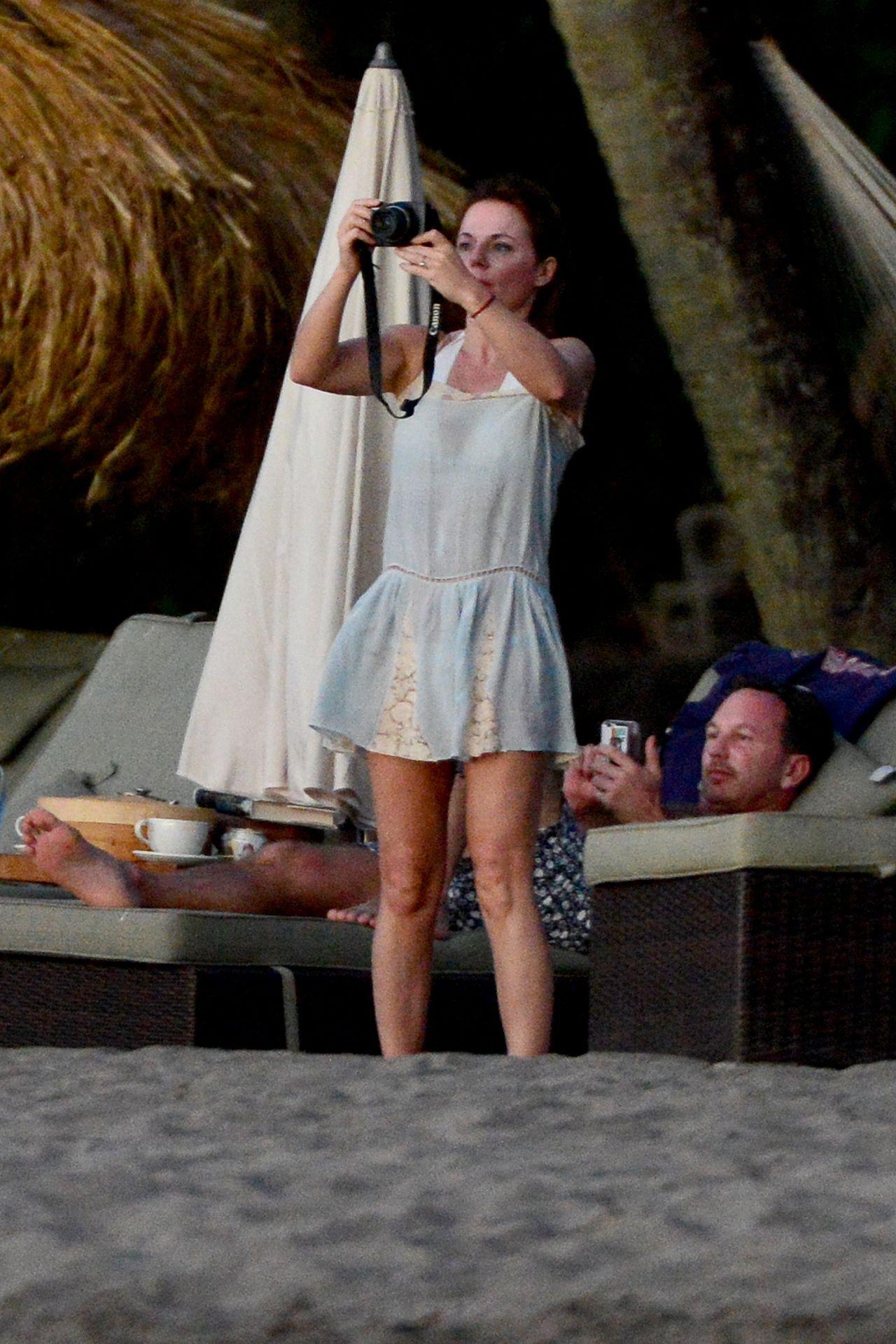 Geri Halliwell Vacation Candids In St Lucia December 2014