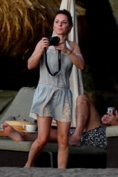 Geri Halliwell - Vacation Candids in St. Lucia - December 2014