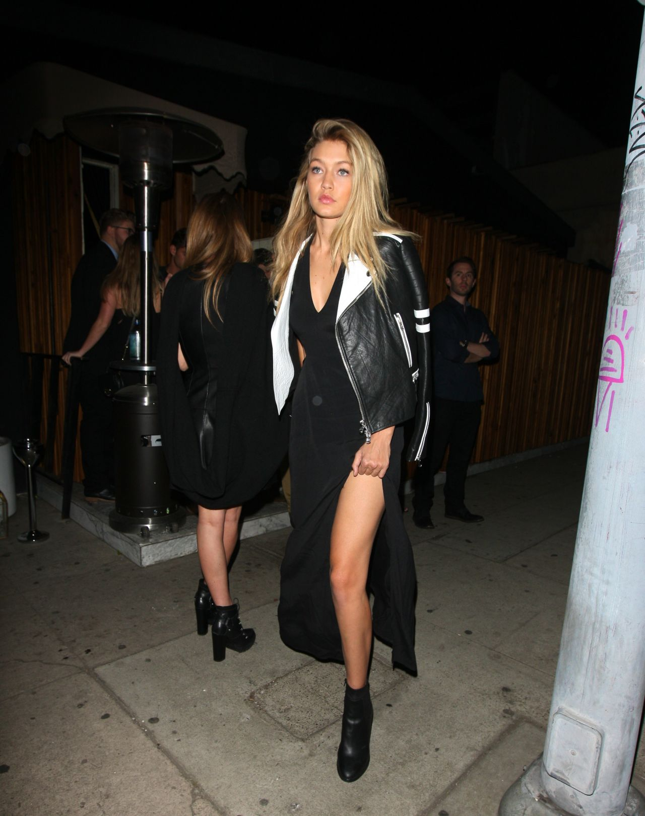 Gigi Hadid Night Out Style - Leaving the Nice Guy Nightclub in West Hollywood, January 2015