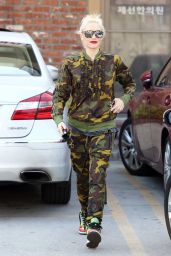 Gwen Stefani Military Style - Out in Los Angeles, January 2015