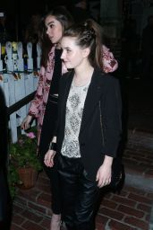 Hailee Steinfeld & Kaitlyn Dever Night Out Style - at The Ivy in LA, January 2015
