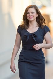 Hayley Atwell - Visits Jimmy Kimmel Live in Los Angeles, Jan. 2015