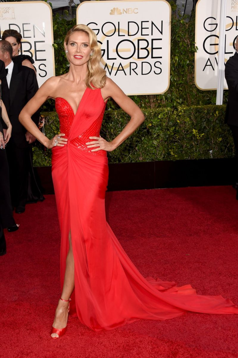 Heidi Klum – 2015 Golden Globe Awards in Beverly Hills
