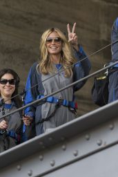 Heidi Klum - Climbing the Sydney Harbour Bridge in Sydney, January 2015