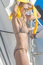 Heidi Klum in a Bikini in St. Barts, January 2015