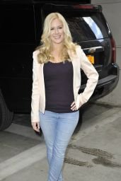 Heidi Montag Casual Style - at AOL Building in Manhattan, New York City, Jan 2015