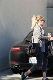 Hilary Duff - Leaving the Gym in Beverly Hills, January 2015
