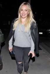 Hilary Duff - Leaving Zinque Restaurant in West Hollywood, January 2015