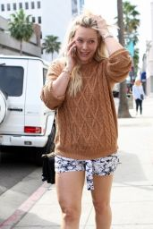 Hilary Duff Leggy in Shorts - Out in Beverly Hills, January 2015