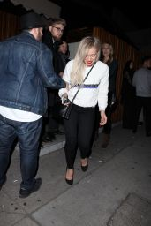 Hilary Duff Night Out Style - Leaving The Nice Guy in West Hollywood, Jan. 2015
