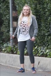 Hilary Duff - Walking Her Dog in Beverly Hills - January 2015