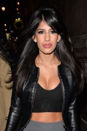 Jasmin Walia Night Out Style - Leaving Dstrkt Club in London