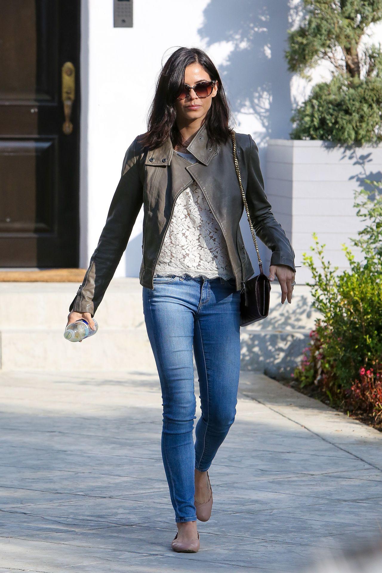 Jenna Dewan In Jeans Leaving A House In Beverly Hills