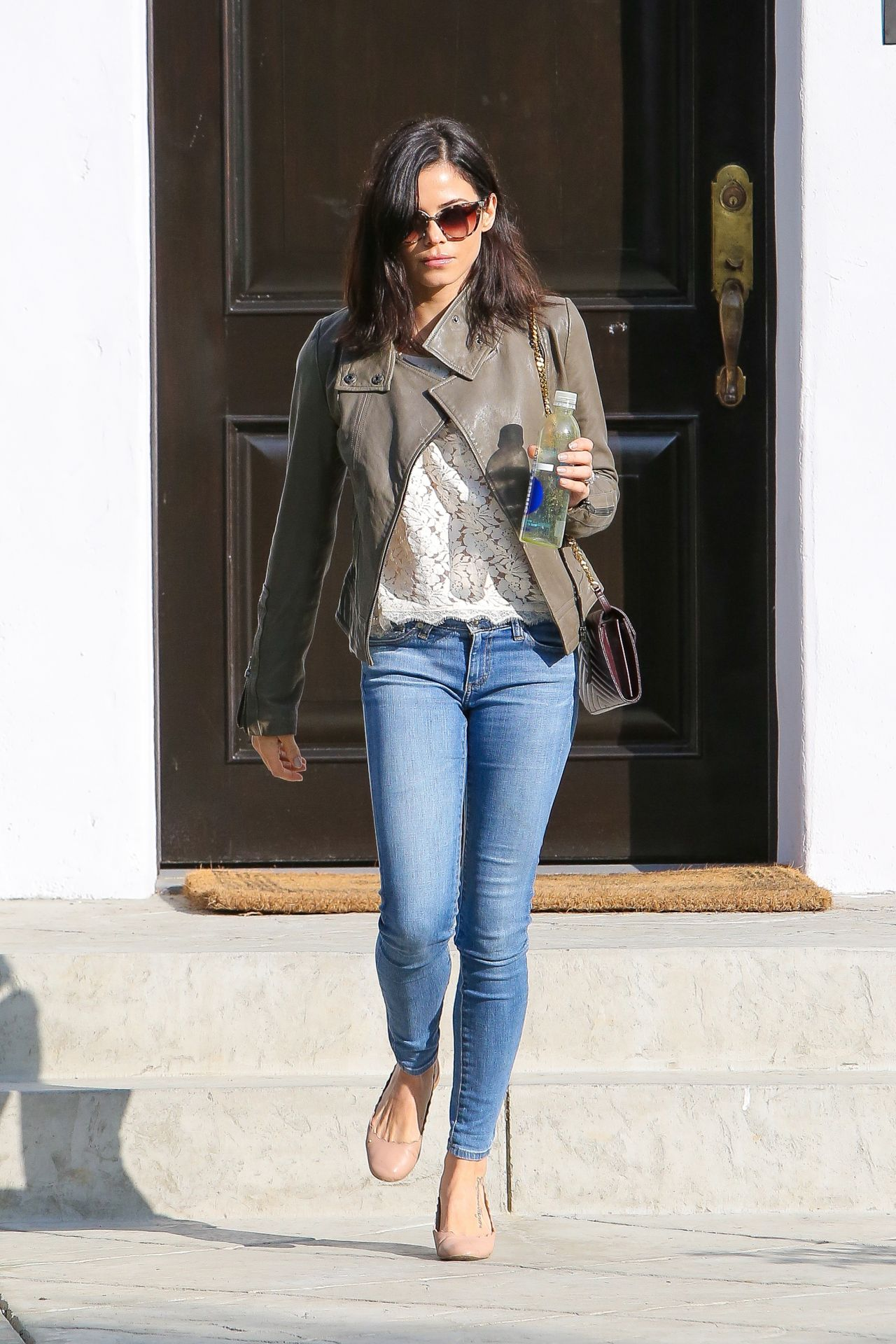 Jenna dewan in jeans leaving a house in beverly hills House jeansy