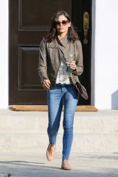 Jenna Dewan in Jeans - Leaving a House in Beverly Hills - January 2015