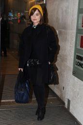 Jenna-Louise Coleman - BBC Radio 1 studio in London - Dec. 2014